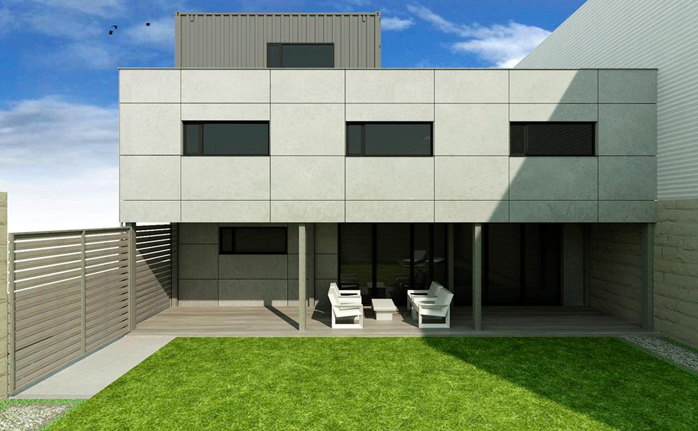 Casa prefabricada con contenedores modelo marsella mojuru - Modelo casa prefabricada ...